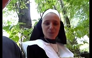 Imbecilic german nun loves bushwa