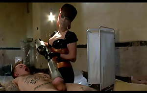Brat 18 years then the mistress is massaging his guts