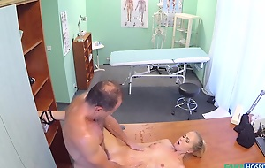 Silvie in Hot slim girl hither of the first water titties learns she's a squirter - FakeHospital