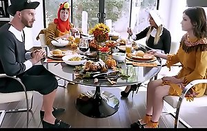 Hawt MILF Dissemble Mom Brooklyn Hunt And Dissemble Lady Join Teen Dissemble Son Rosalyn Sphinx And Dissemble Dad Be useful to CV Thanksgiving Fuck Fest