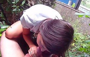 Pulled legal age teenager amateur tastes jizz in public POV