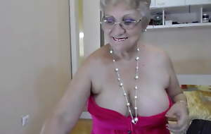Big breasted granny strips and taunts on webcam AGAIN