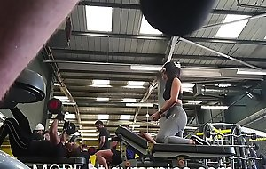 Fit brunette teen powerful out apropos the gym anent a great ass and camel start-off filmed spy webcam style. From gymspies.com
