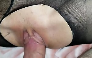 Sleeping little schoolgirl lass receives awakened wide of daddy's porn video  unearth and loves it!