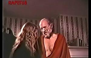 Granddad take a mating chore to granddaughter