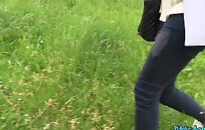 Karol in Blonde with big boobs has outdoor coitus in public - PublicAgent