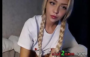 Russian Pocket-sized Teen Pigtails - sex  SLUT2CAM XNXX fuck film over