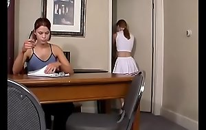 Spanking Legal age teenager Jessica - Cheerleader Paddling with Kailee