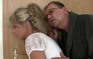Perverted olds seduces his hot Girlfriend as A he leaves