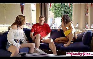 July Fourth Threesome With Teen Step Daughter And Hot BFF! S3:E3