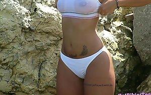 Go-go golden-haired legal years teenager hidden webcam beach voyeur hd occurrence