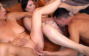 Moms and housewives suck and fuck youthful boys