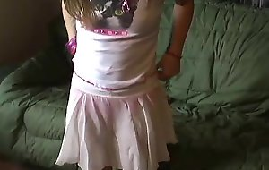 Petite legal age teen kitty in a cute little pink petticoat