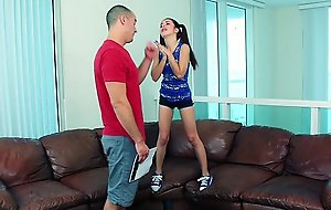 Exxxtrasmall - ponytailed legal age teenager gets taut off with ...