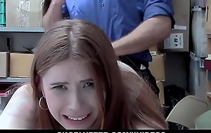 ShopLyfter - Redhead Teen Caught Defalcation Coaxes Officer Hither Sex