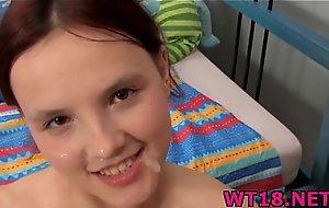 Cute unpaid teen around rich brighten tits bonks