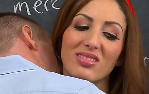 InnocentHigh Successfully brown legal age teen Vivie Delmonico drilled facialized