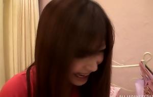 Ruinous Asian teen Satou Haruki enjoys toy insertion