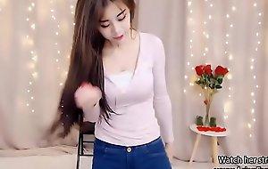 Hard-core Oriental Legal age teenager dances primarily Webcam