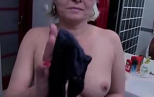 Superannuated junior - grandma caught with her panties