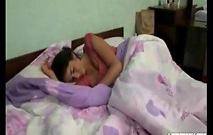 Sleeping legal age teenager sister enjoying morning dealings with fellow-citizen HotGirlsXSEX make less noise movie